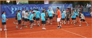 Momenti di festa per Montanes dopo la vittoria all'ATP Challenger