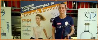 Elisabetta Priante vincitrice Psa world tour di Cordenons squash